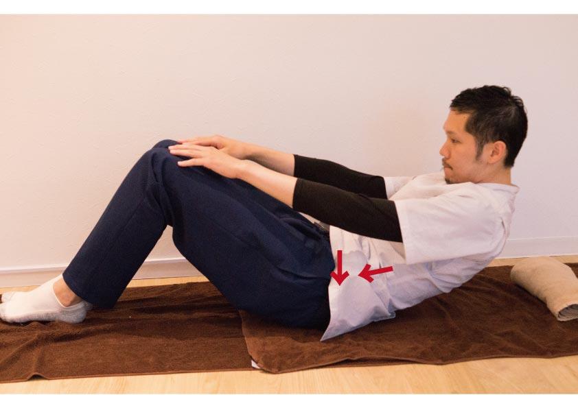 腹横筋と腹直筋の強化運動